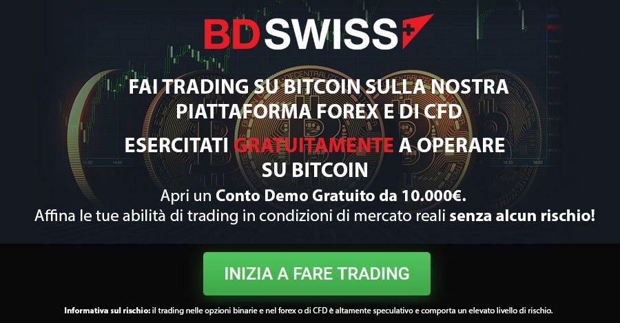 Negozia bitcoin con BDSwiss