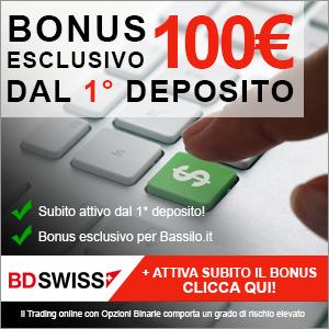 Bonus 100 euro BDSwiss