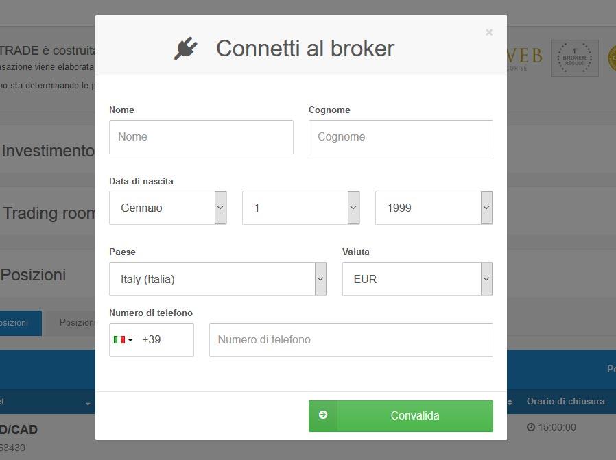 Connetti al broker