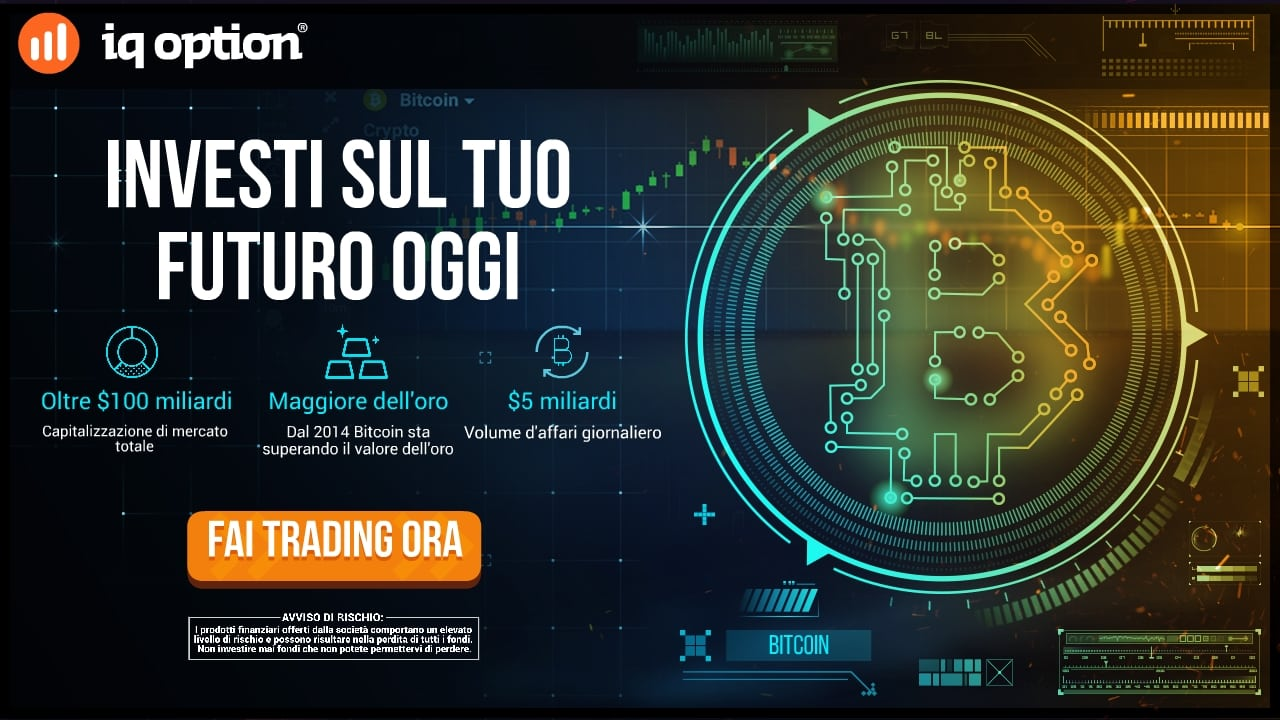 Guida Trading Bitcoin con iQ option: Fai trading ora