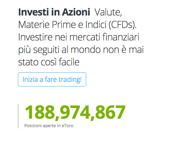 eToro investimenti azioni Cfd