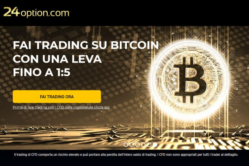 Trading in Bitcoin con 24Option