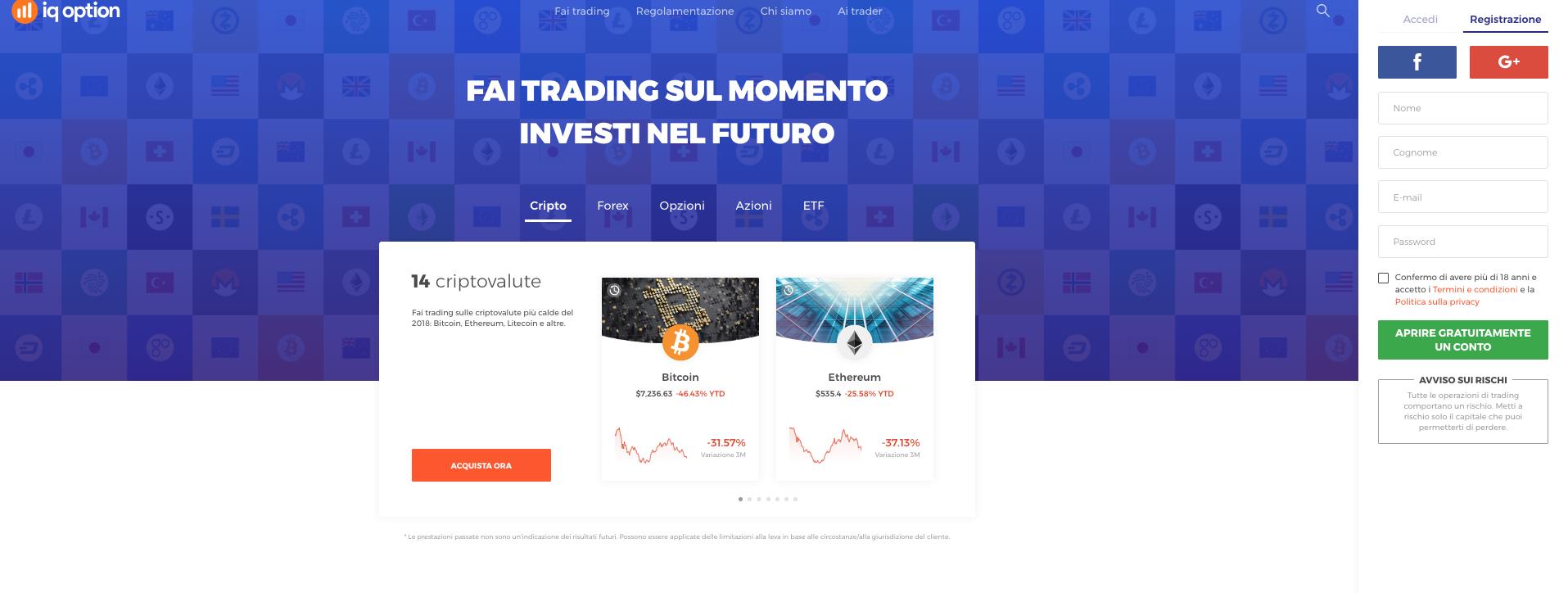 Guida Trading Bitcoin con iQ option: Tipologie di investimento