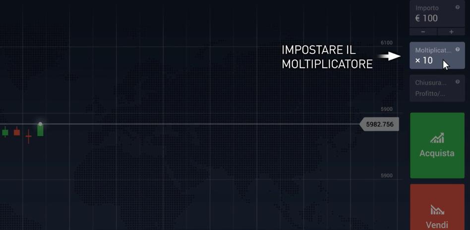 Impostare il Moltiplicatore
