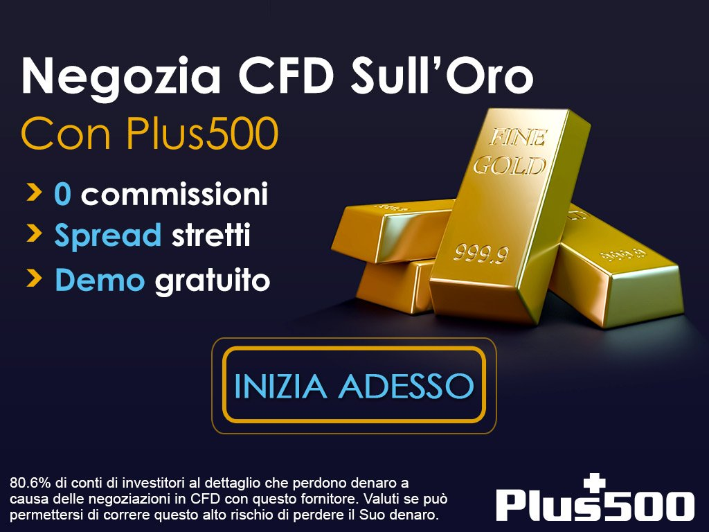 Trading CFD Materie Prime Plus500