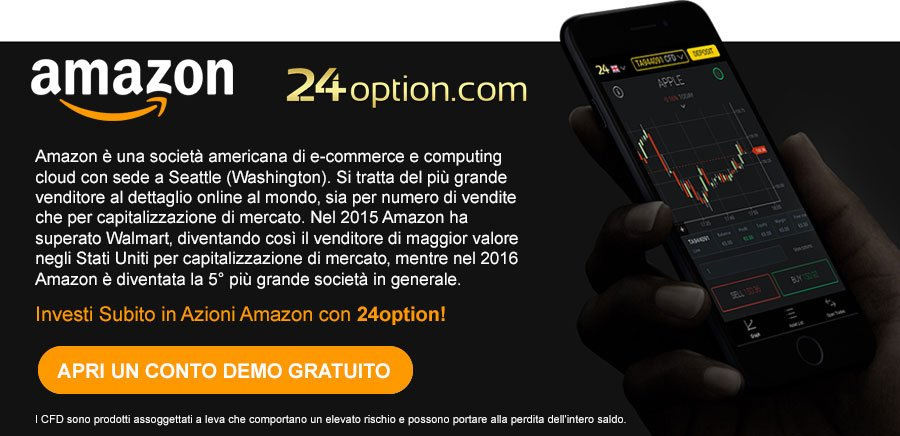 Investi in Azioni Amazon con 24option