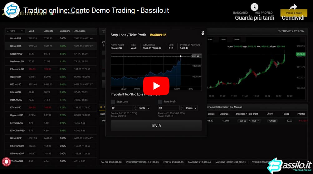 Trading online: Come aprire un Conto Demo (Video guida)