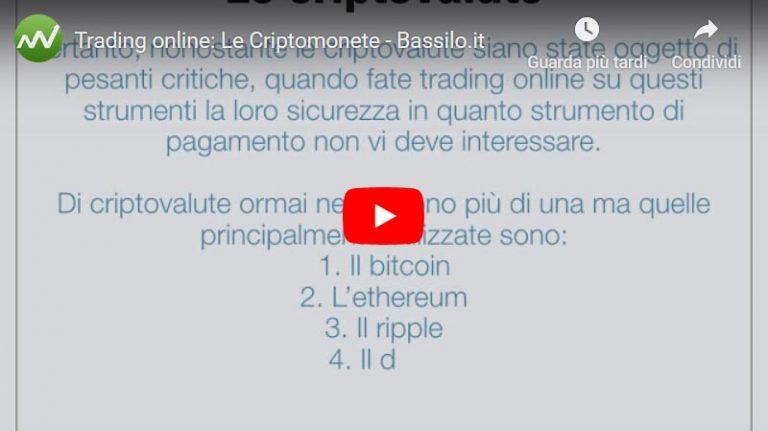 Trading online: Le criptomonete (Video Guida)
