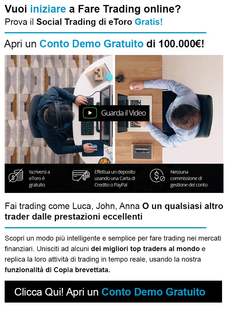Prova il Social trading di eToro!