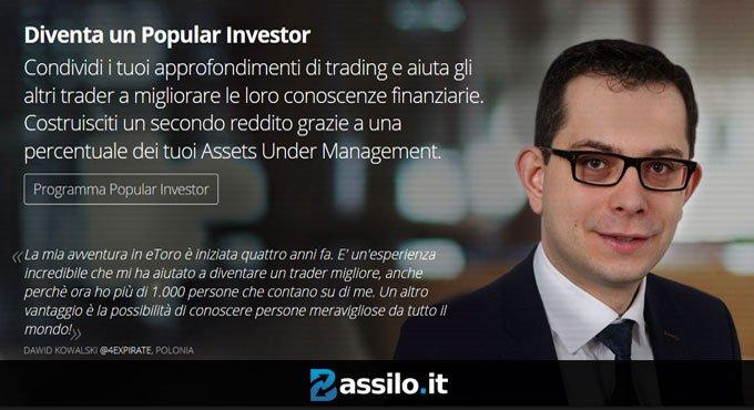 Diventa un Popular investor con eToro