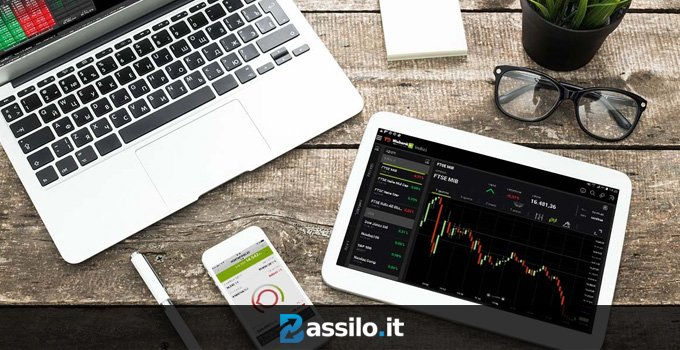 Laptop desktop mobile grafici trading