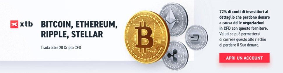 Investi in Crypto con xtb