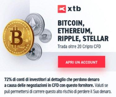 Investi in Criptovalute con xtb