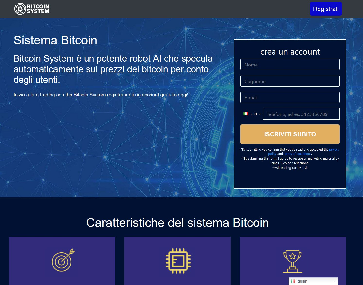 Bitcoin System Home page