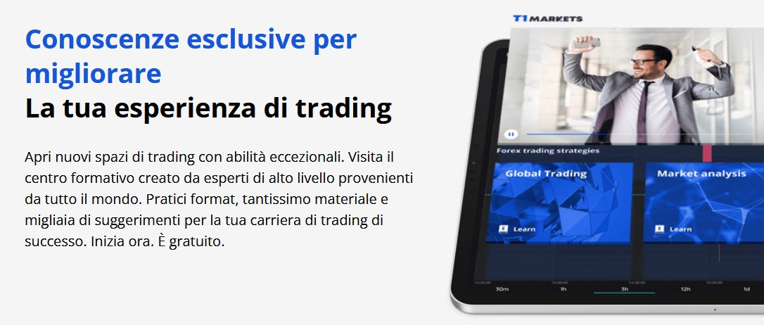 T1Markets migliora La tua esperienza di trading